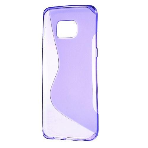 Силиконовый чехол для Samsung Galaxy S6 edge+ фиолетовый S-образный