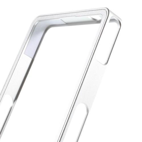 Алюминиевый бампер для Sony Xperia Z1 серебряный