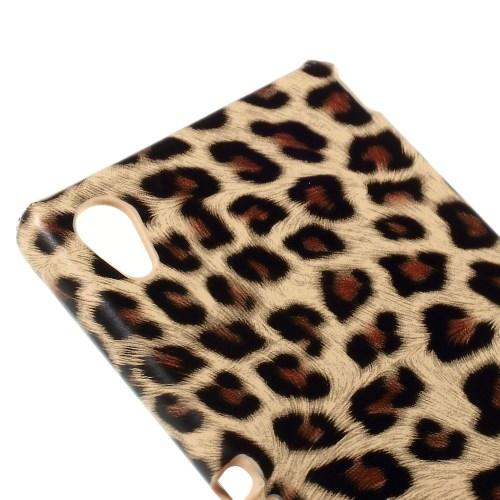 Кейс чехол для Sony Xperia M4 Aqua, M4 Aqua Dual Brown Leopard