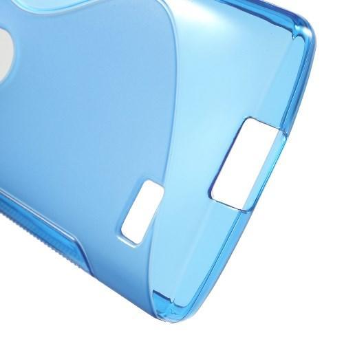 Силиконовый чехол для LG Leon синий