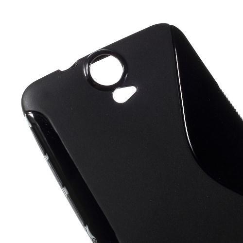 Силиконовый чехол для HTC One E9 Plus черный S-образный
