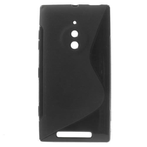 Силиконовый чехол для Nokia Lumia 830 черный S-shape