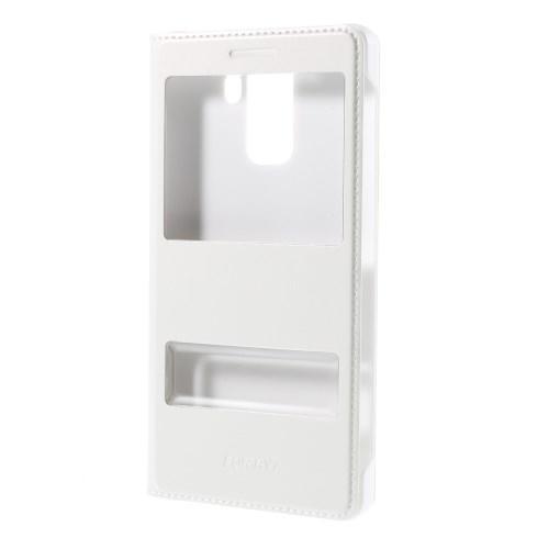 Чехол Книжка с двойным окном для Huawei Honor 7 белый
