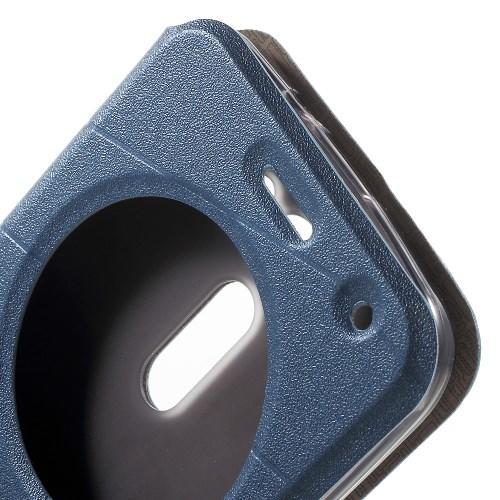 Чехол книжка для ASUS Zenfone 2 Lazer (Laser) ZE500KL ZE500KG с функцией активное окно синий