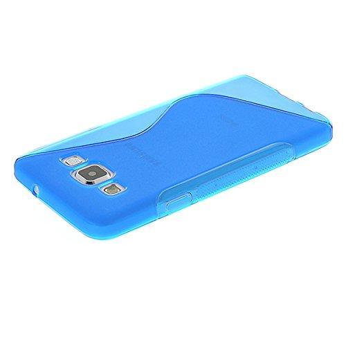 Силиконовый чехол для Samsung Galaxy A3 - синий ToughGuard