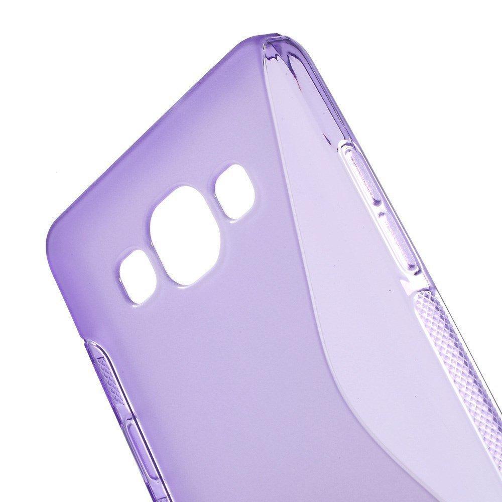 Силиконовый чехол для Samsung Galaxy A5, Galaxy A5 Duos - фиолетовый S-образный