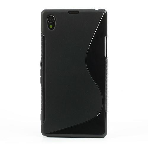 Силиконовый чехол для Sony Xperia Z1 черный S-Shape