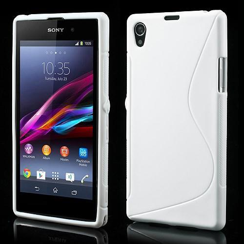 Силиконовый чехол для Sony Xperia Z1 белый S-Shape