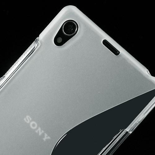 Силиконовый чехол для Sony Xperia Z1 прозрачный S-Shape