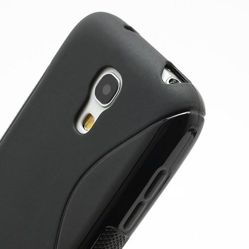Силиконовый чехол для Samsung Galaxy S4 mini черный S-образный