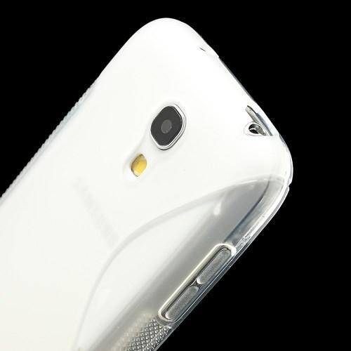 Силиконовый чехол для Samsung Galaxy S4 mini прозрачный S-образный