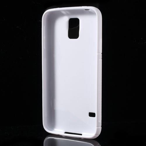 Силиконовый чехол для Samsung Galaxy S5 S-образный белый