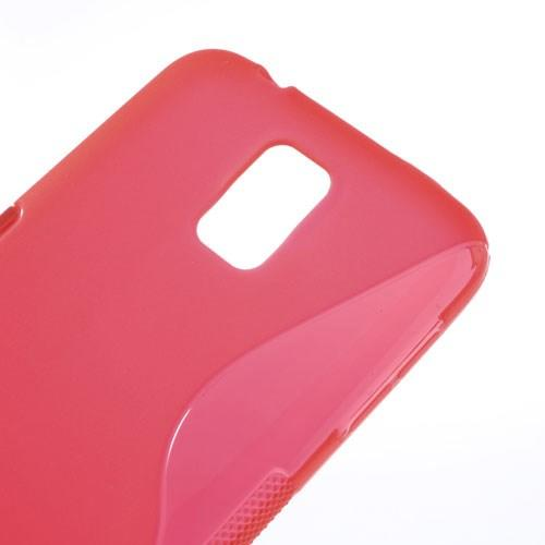 Силиконовый чехол для Samsung Galaxy S5 S-образный красный