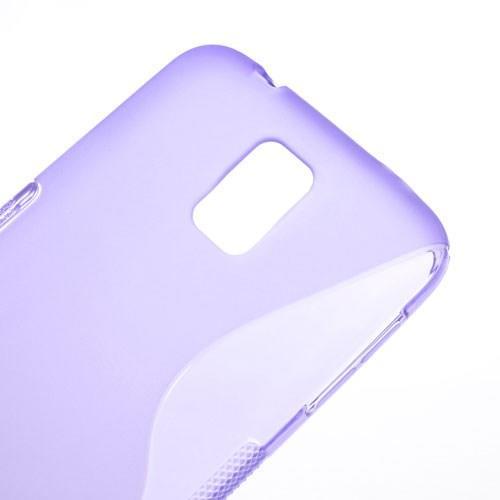 Силиконовый чехол для Samsung Galaxy S5 S-образный фиолетовый