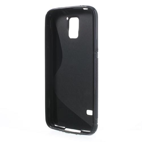 Силиконовый чехол для Samsung Galaxy S5 S-образный черный