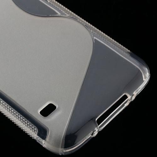 Силиконовый чехол для Samsung Galaxy S5 S-образный прозрачный