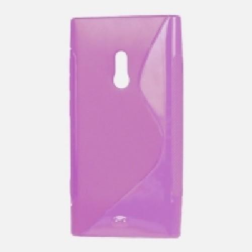 Силиконовый чехол для Nokia Lumia 800 фиолетовый