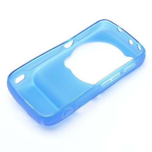 Силиконовый чехол для Samsung Galaxy S4 Zoom голубой