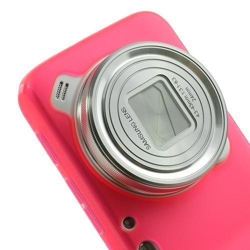 Силиконовый чехол для Samsung Galaxy S4 Zoom розовый