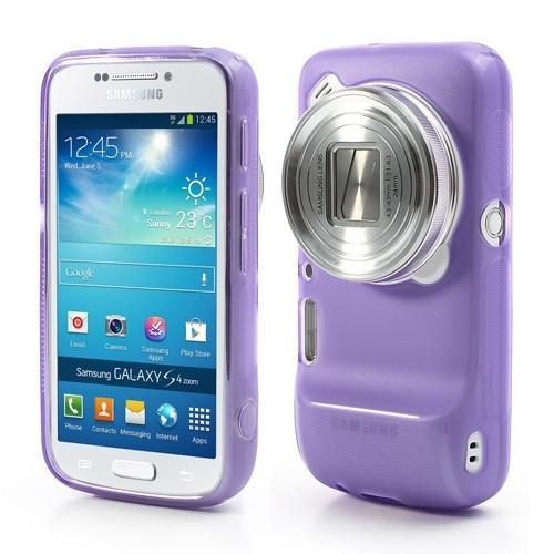 Силиконовый чехол для Samsung Galaxy S4 Zoom фиолетовый