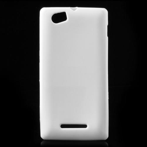 Силиконовый чехол для Sony Xperia M белый