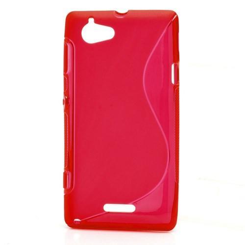 Силиконовый чехол для Sony Xperia L красный