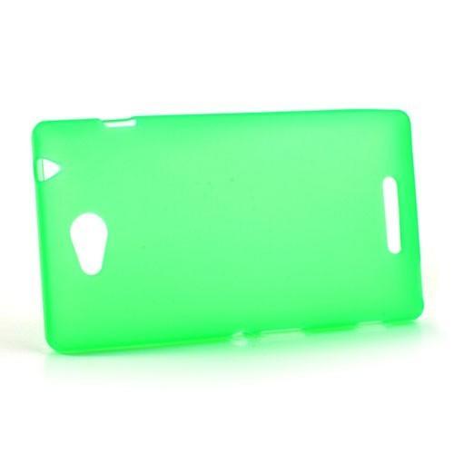 Силиконовый чехол для Sony Xperia C красный зеленый