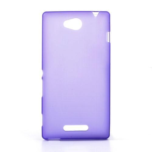 Силиконовый чехол для Sony Xperia C фиолетовый