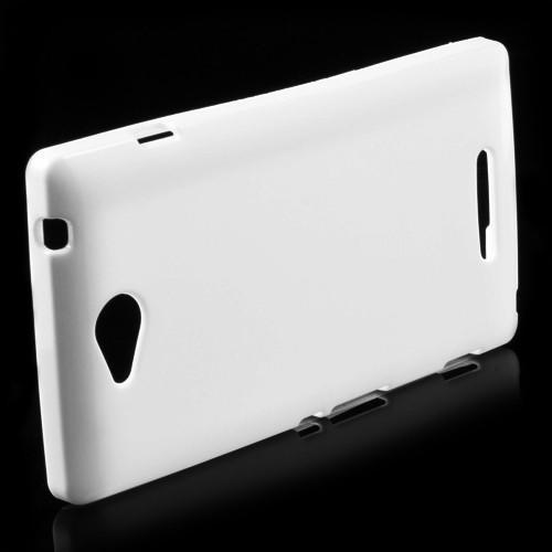 Силиконовый чехол для Sony Xperia C белый