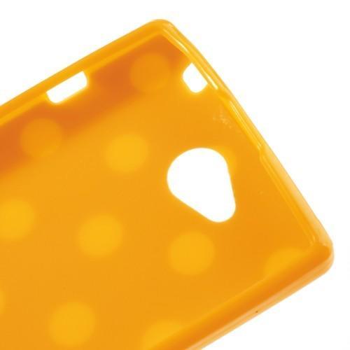 Силиконовый чехол для Sony Xperia C оранжевый Bubble