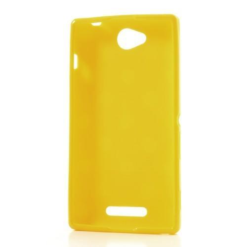 Силиконовый чехол для Sony Xperia C желтый Bubble