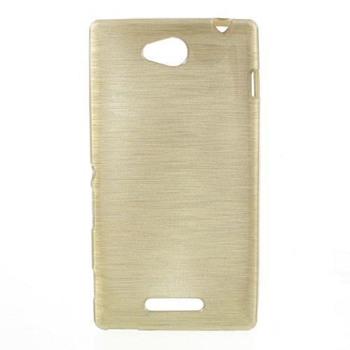 Силиконовый чехол для Sony Xperia C золотой Shine