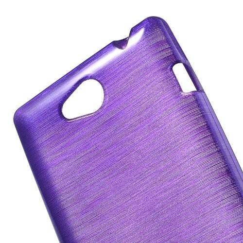 Силиконовый чехол для Sony Xperia C фиолетовый Shine