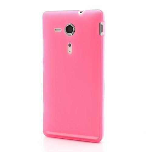 Силиконовый чехол для Sony Xperia SP розовый
