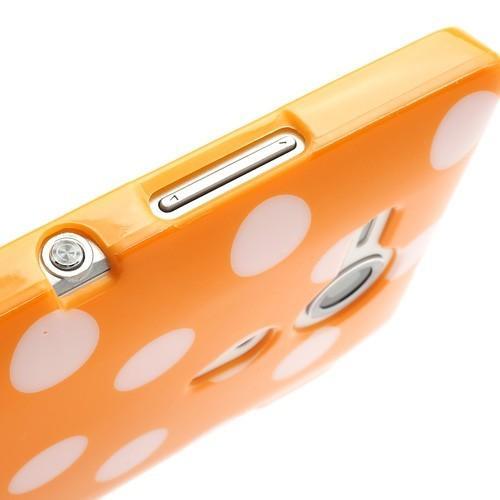 Силиконовый чехол для Sony Xperia SP оранжевый Bubble
