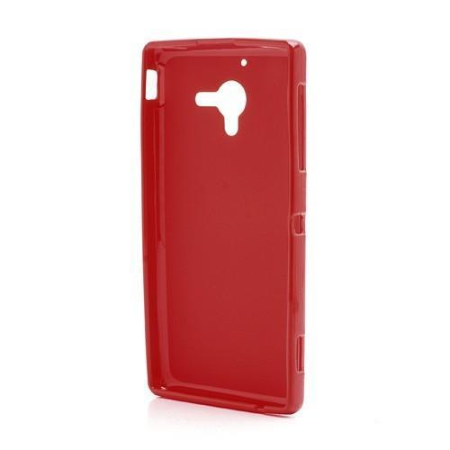 Силиконовый чехол для Sony Xperia ZL красный