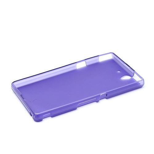 Силиконовый чехол для Sony Xperia Z фиолетовый