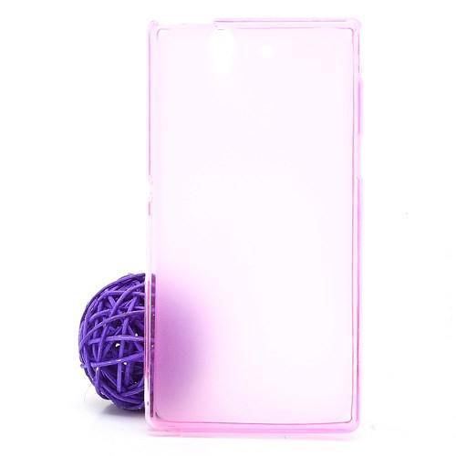 Силиконовый чехол для Sony Xperia Z розовый