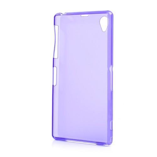 Силиконовый чехол для Sony Xperia Z1 фиолетовый