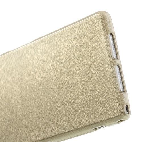 Силиконовый чехол для Sony Xperia Z1 золотой Shine
