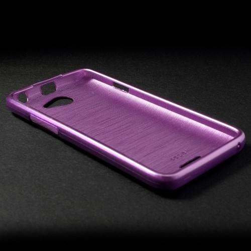 Силиконовый чехол для HTC Desire 516 фиолетовый Shine