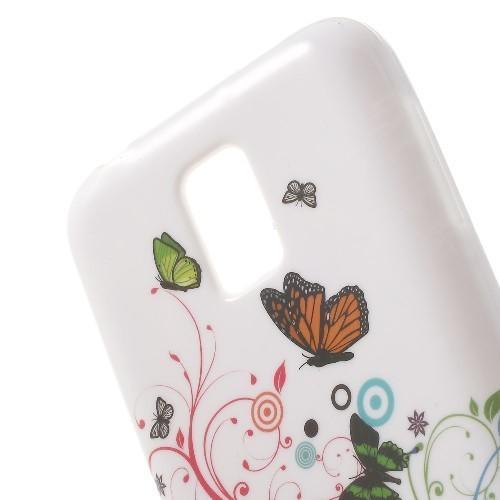 Силиконовый чехол для Samsung Galaxy S5 mini Flying Butterflies