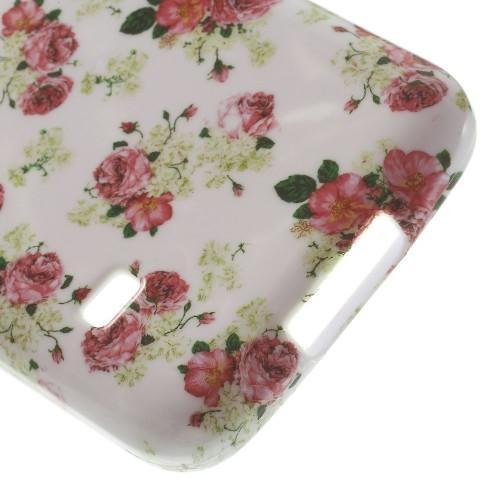 Силиконовый чехол для Samsung Galaxy S5 mini White&Rose Flowers