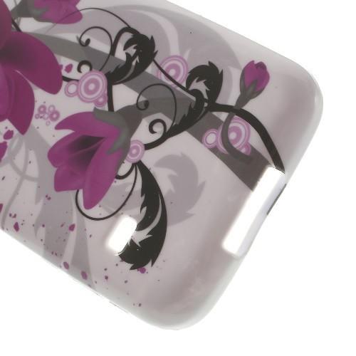 Силиконовый чехол для Samsung Galaxy S5 mini lilac flower