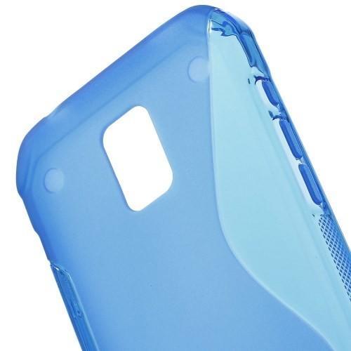 Силиконовый чехол для Samsung Galaxy S5 Active синий
