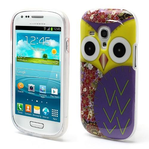 Силиконовый чехол для Samsung Galaxy S3 mini Yellow Owl