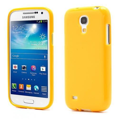 Силиконовый чехол для Samsung Galaxy S4 mini желтый