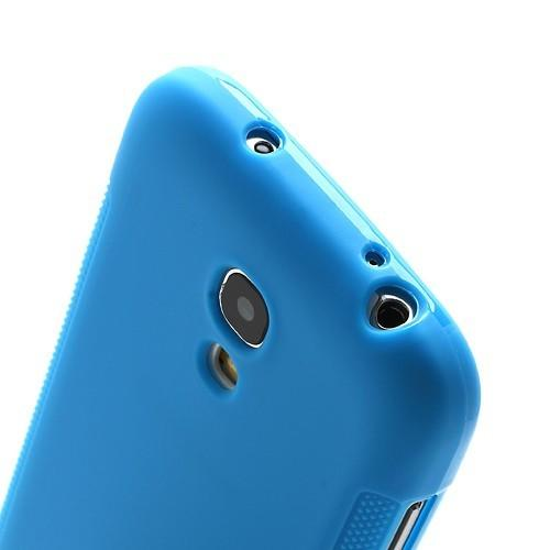 Силиконовый чехол для Samsung Galaxy S4 mini голубой FullTouch