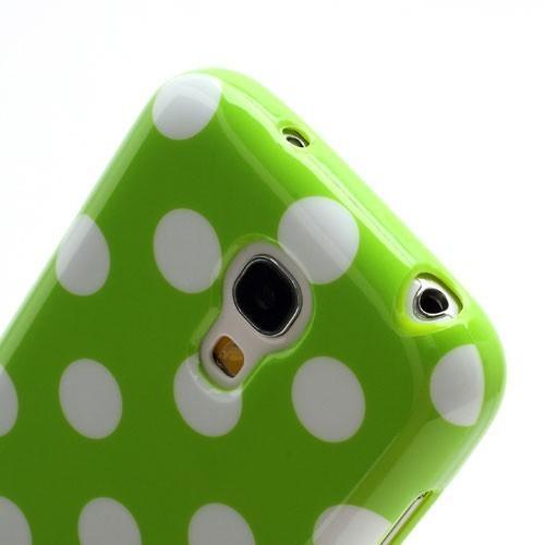 Силиконовый чехол для Samsung Galaxy S4 mini зеленый Bubble