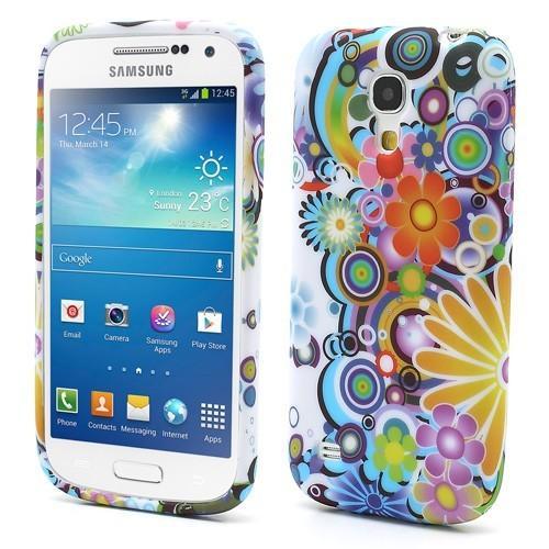 Силиконовый чехол для Samsung Galaxy S4 mini Colorful Flowers